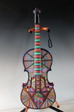painted violin by ruth miller