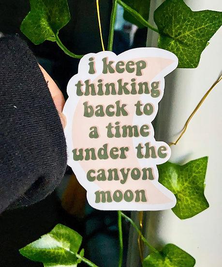 Canyon Moon Sticker
