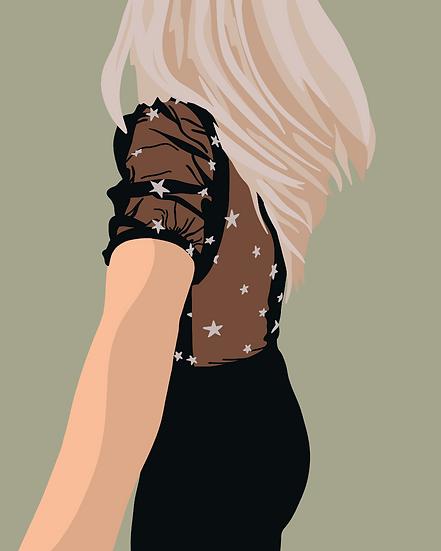 Star Girl Print