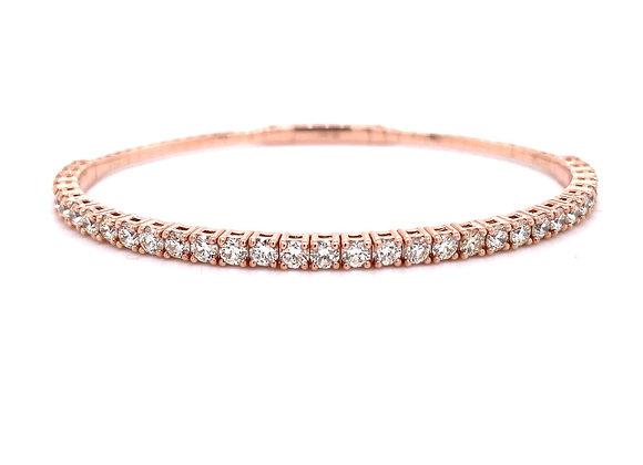 14KT ROSE GOLD DIAMOND BANGLE BRACELET