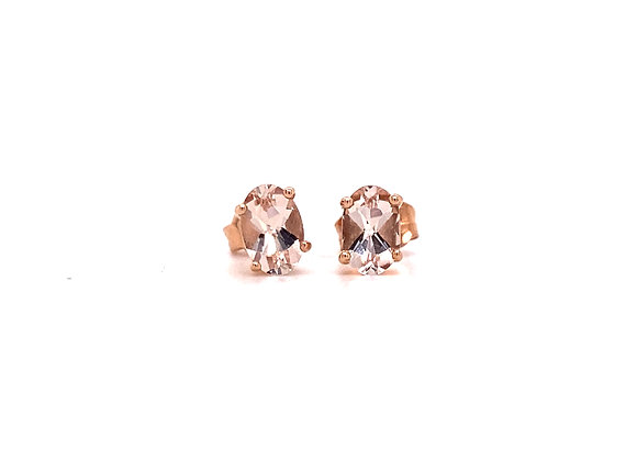 14KT ROSE GOLD MORGANITE EARRINGS