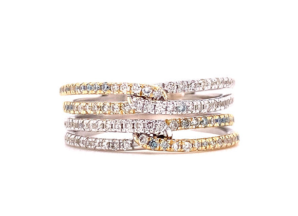 14KT GOLD TWO-TONE DIAMOND RING
