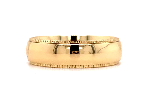 14KT YELLOW GOLD MEN'S BAND