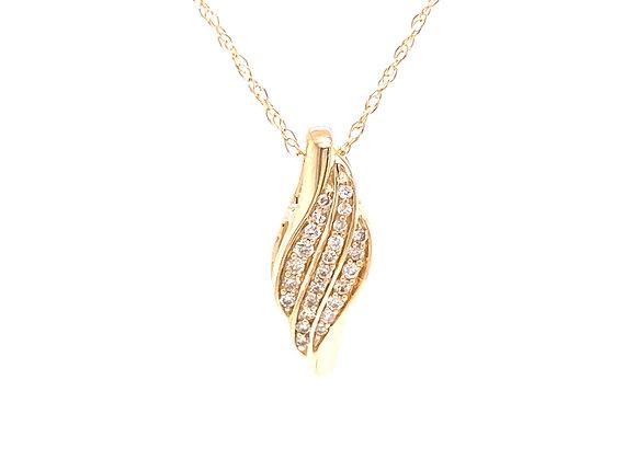 10KT YELLOW GOLD DIAMOND PENDANT