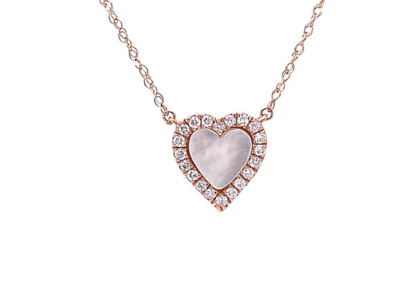 14KT ROSE GOLD MOTHER OF PEARL NECKLACE
