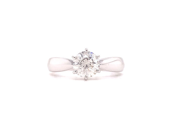 14KT WHITE GOLD DIAMOND ENGAGEMENT RING