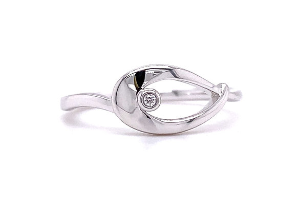 copy of STERLING SILVER AND DIAMOND RING