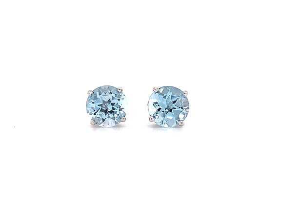 14KT WHITE GOLD SKY BLUE TOPAZ EARRINGS