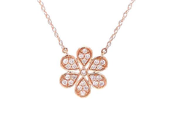 10KT ROSE GOLD DIAMOND NECKLACE