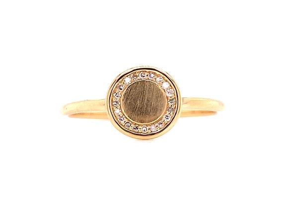 10KT YELLOW GOLD DIAMOND RING
