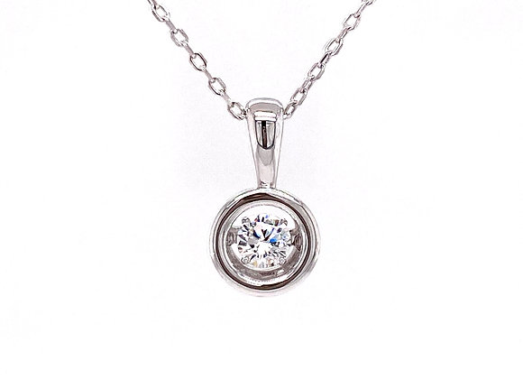 STERLING SILVER CZ DANCING PENDANT