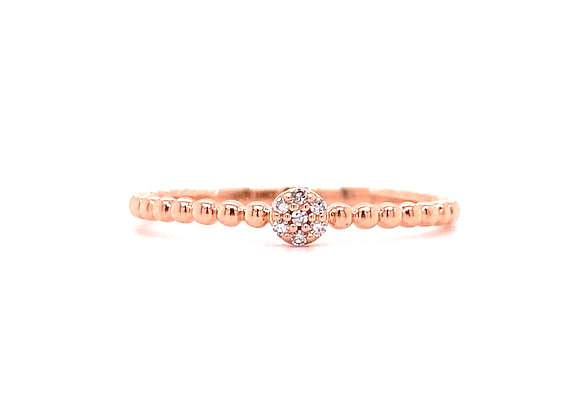 10KT ROSE GOLD DIAMOND RING