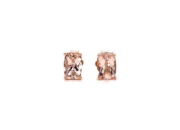 14KT ROSE GOLD MORGANITE EARRINGS