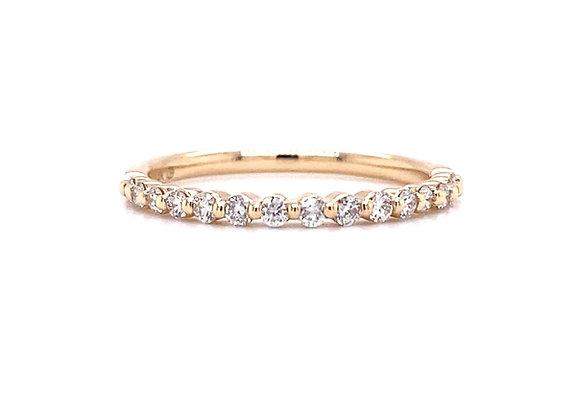 14KT YELLOW GOLD DIAMOND RING