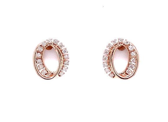 10KT ROSE GOLD DIAMOND EARRINGS