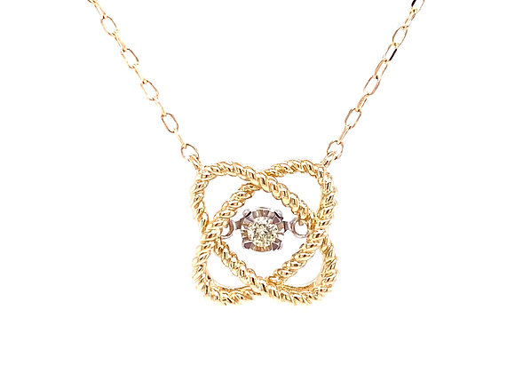 10KT YELLOW GOLD DIAMOND NECKLACE