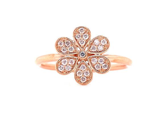10KT ROSE GOLD DIAMOND RING