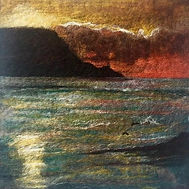 Needle felt picture, Bressay Lighthouse, 100% Merino wool