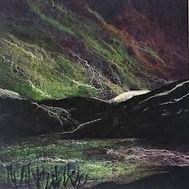 Mirrie Dancers - needle felt picture, 100% Merino wool