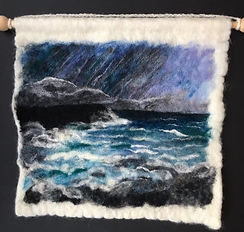Shetland Winters Day - Wet and Needle felted using Shetland & Merino wool