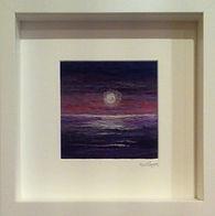 Purpe hue moon - Needle felted using 100% Merino wool