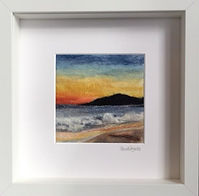 Needle felt Meal Beach, Burra - made with 100% Merino wool