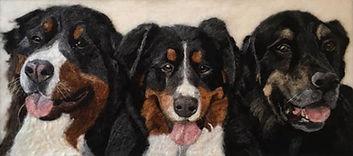 Bernese Mountain dog, Needle felt pet portrait,