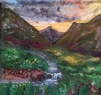 Goatfell Mountain, needle felt picture, 100% Merino wool