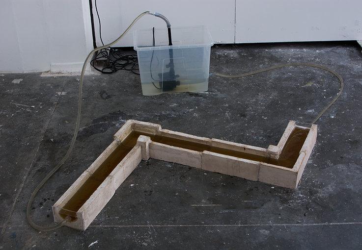 Water pipe sculpture