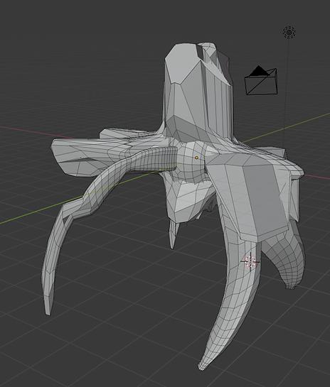blender drone model