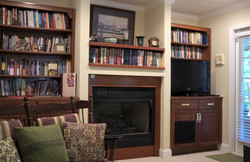 Fireplace and Library