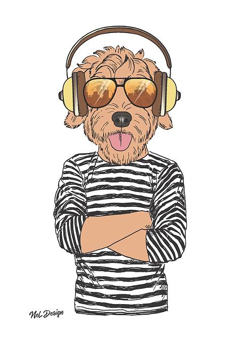 Hipster Retrodoodle