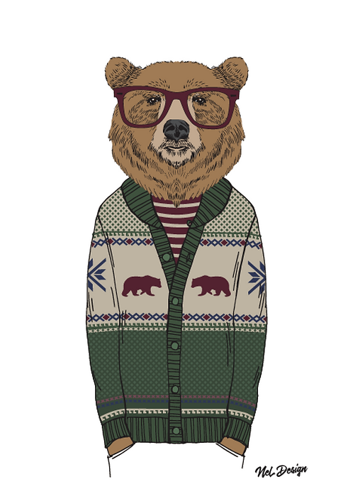 Cardigan Grizzly