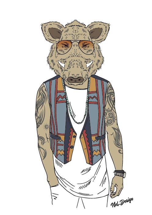 Boho Wild Boar