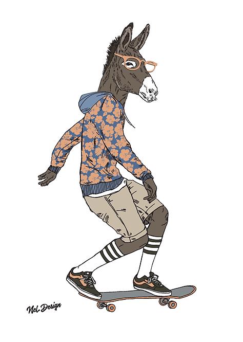 Skateboard Donkey
