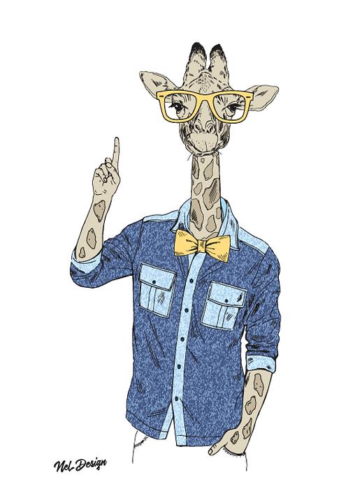 Pointing Giraffe
