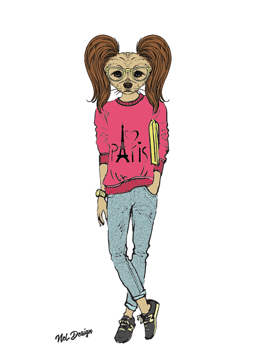 Street Toy hipster animal illustration