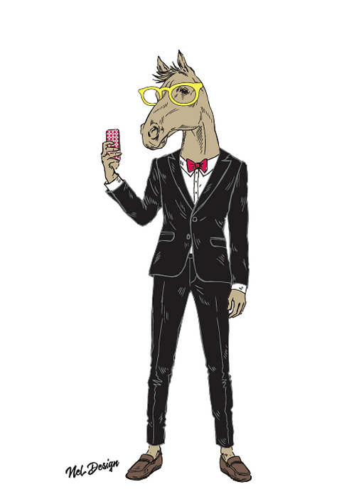 Selfie Horse
