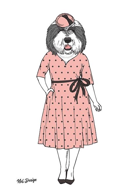 Old English Sheepdog Lady