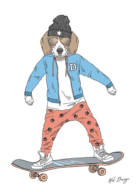 Skateboard Beagle