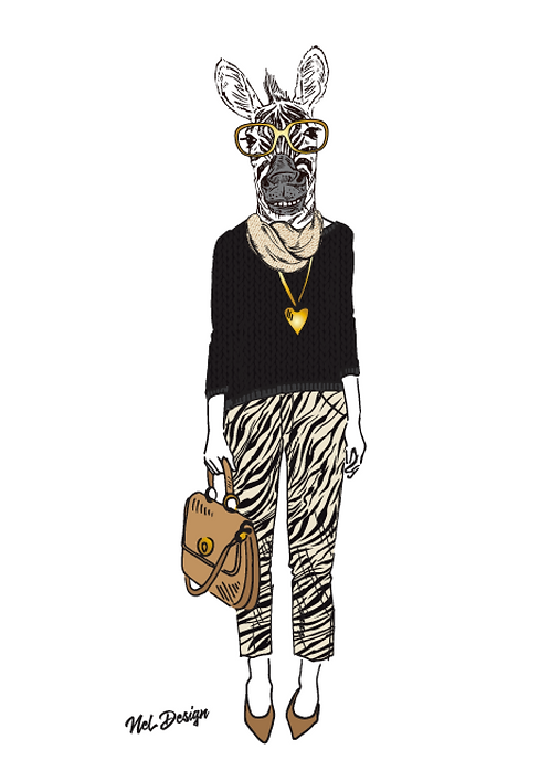 Working Girl Zebra
