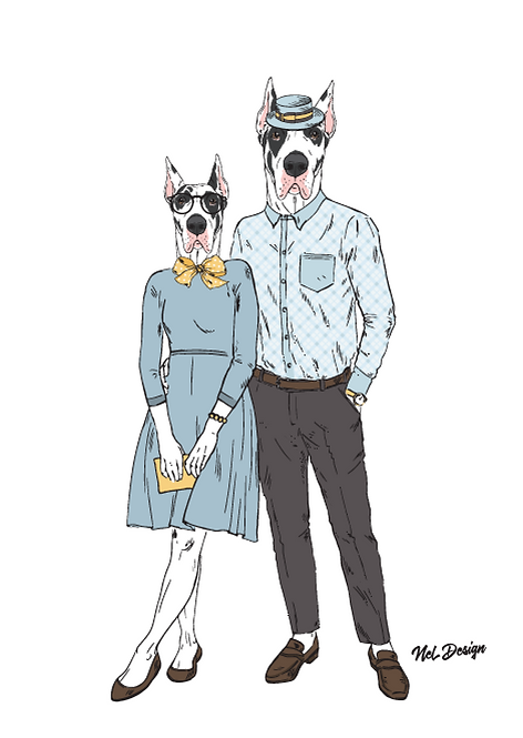 Great Dane Couple
