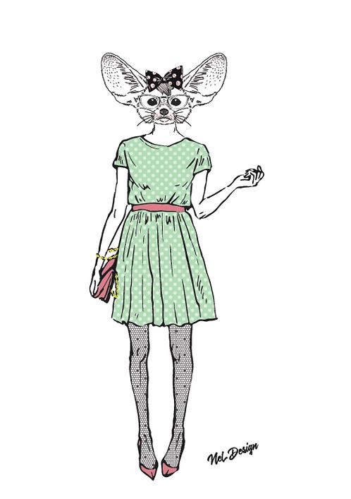 Party Girl Fennec Fox
