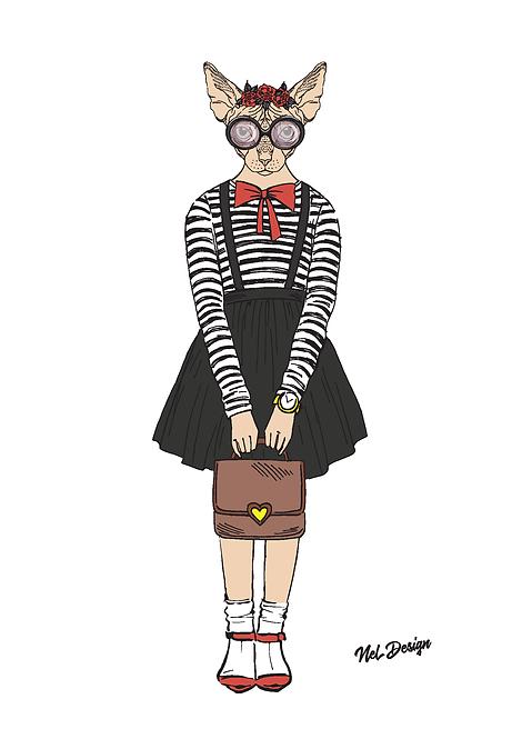 Schoolgirl Sphynx