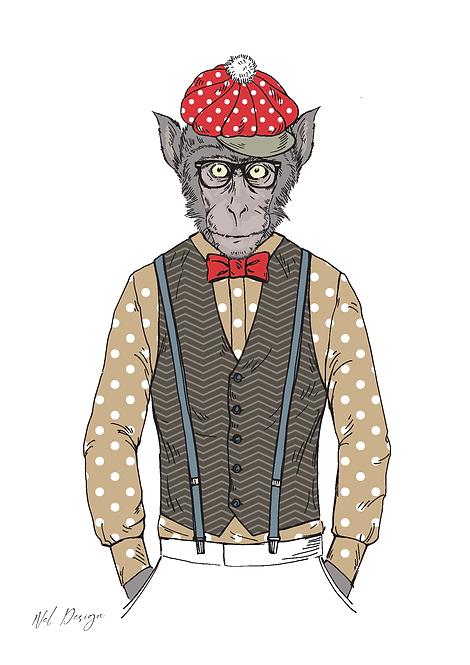 Retro Macaque