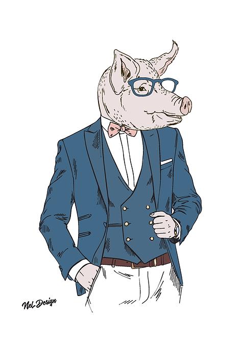 Pig Gentleman