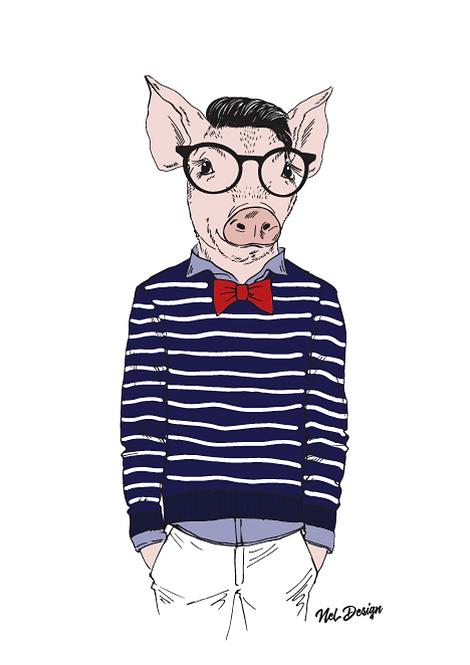 Bowtie Pig