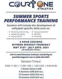 Summer Sports Performance Training Court