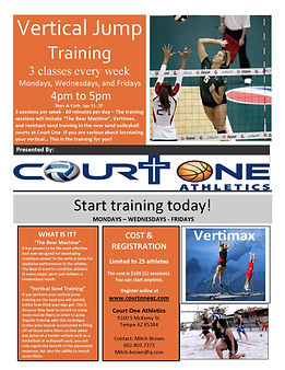 Vertical Jump Training flyer Ashley Kast