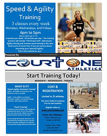 Speed - Agility Training flyer Bre Lesli